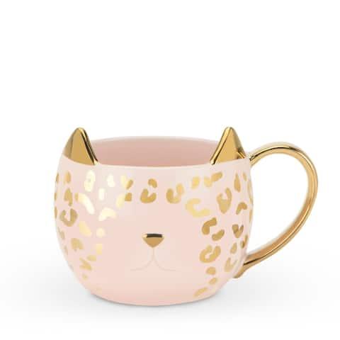Chloe Pink Leopard Cat Mug by Pinky Up