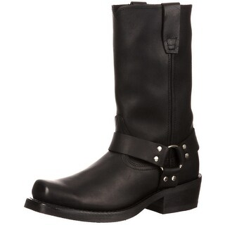 """Durango Motorcycle Boots Mens 11"""" Harness Strap Leather Black"""