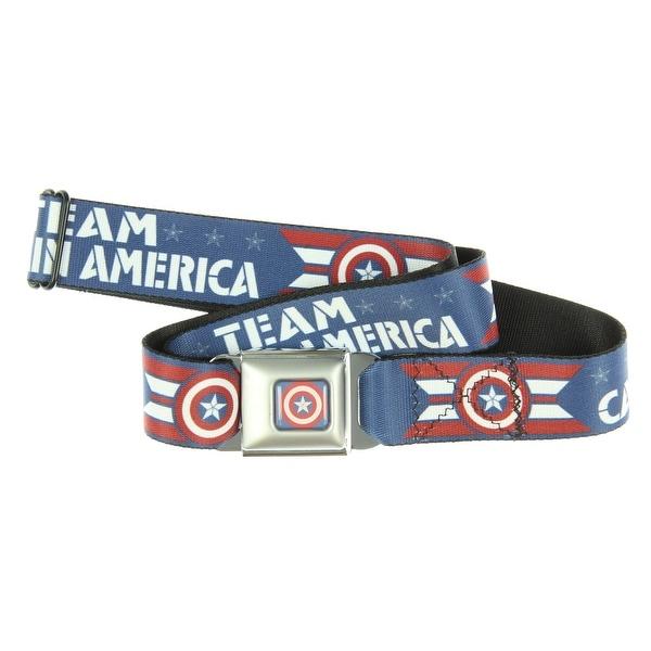 Captain America Civil War Seatbelt Belt-Holds Pants Up