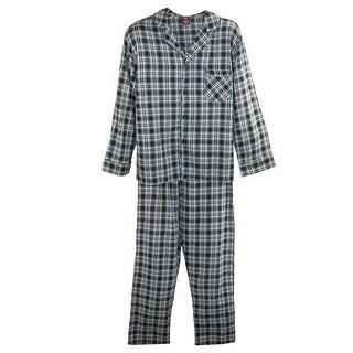 Hanes Men's Tall Long Sleeve Long Leg Flannel Pajamas