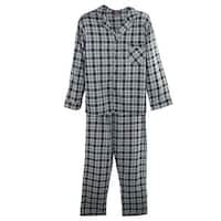 Hanes Men's Tall Long Sleeve Long Leg Flannel Pajamas
