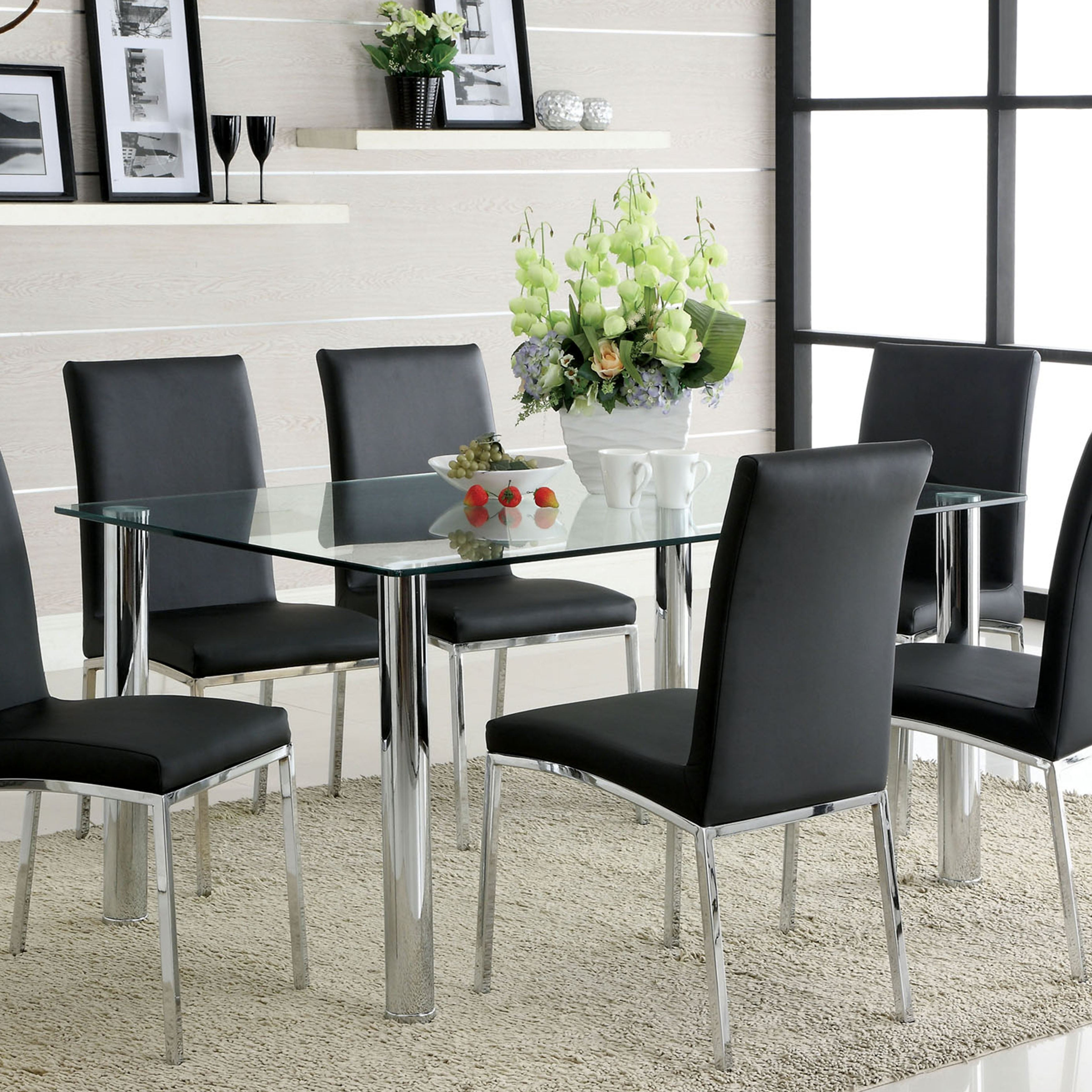 Furniture Of America Arden 7 Piece Contemporary Dining Set Overstock 6521218