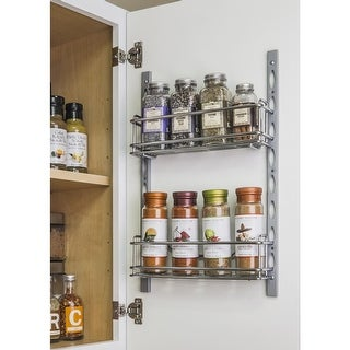 Hardware Resources DMS3-R 3 Inch Deep 11 Inch Tall Door Mounted Spice Rack Syste