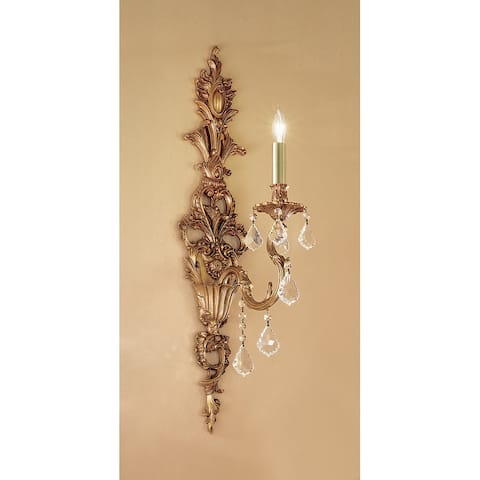 "Classic Lighting 57351-FG 29"" Crystal Wallchiere from the Majestic"