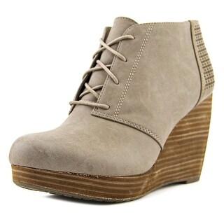 Dr. Scholl's Hype Women  Open Toe Leather Gray Wedge Heel