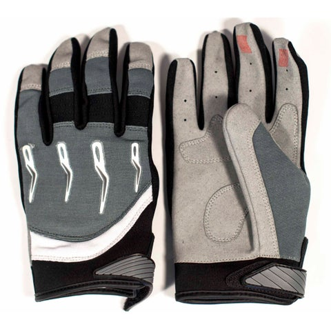Race-Driven ATV MX Off Road Silicone Fingertip Riding Gloves - Silver