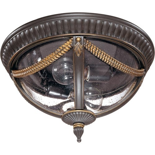 Nuvo Lighting 60/2047 Philippe 2 Light Flush Mount Outdoor Ceiling Fixture - 13.5 Inches Wide