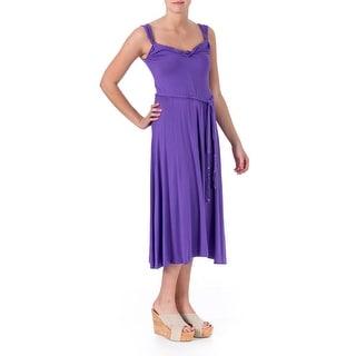 Elie Tahari Womens Janice Modal Sleeveless Casual Dress - S