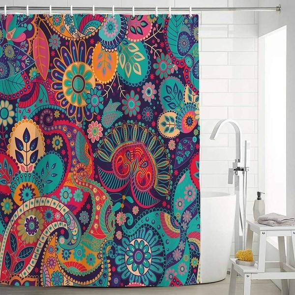 Arabesque Bathroom Shower Curtains Colorful