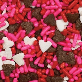Sprinkles 3.75 Ounces-Chocolate Hearts Mix