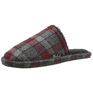 Woolrich Mens Chantham Wool Plaid Mule Slippers - 8