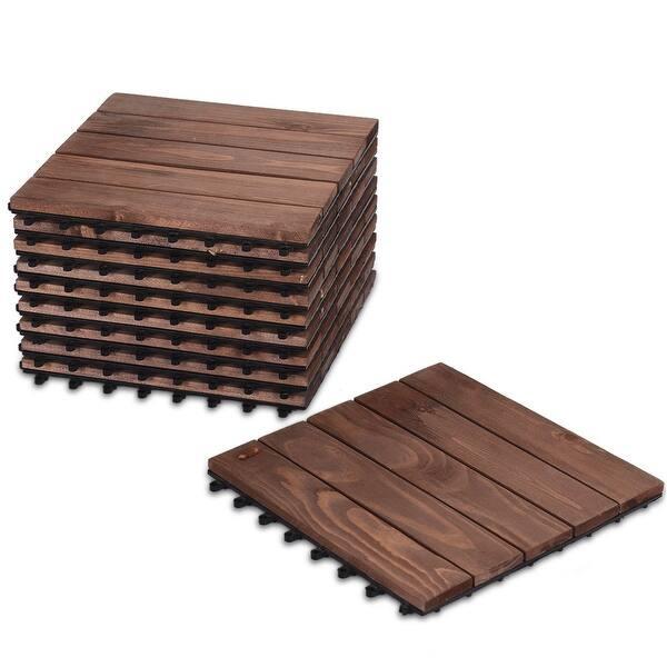 Floor Interlocking Wood Patio Tiles