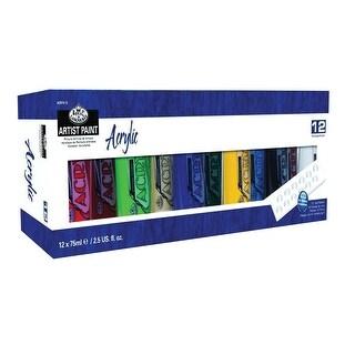Royal Brush Artist Acrylic Paint Set, 2.53 Ounces, Assorted Color, Set of 12