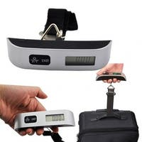 Mighty Power Electronic Luggage Scale, Black, Weighs up to 110 Pounds