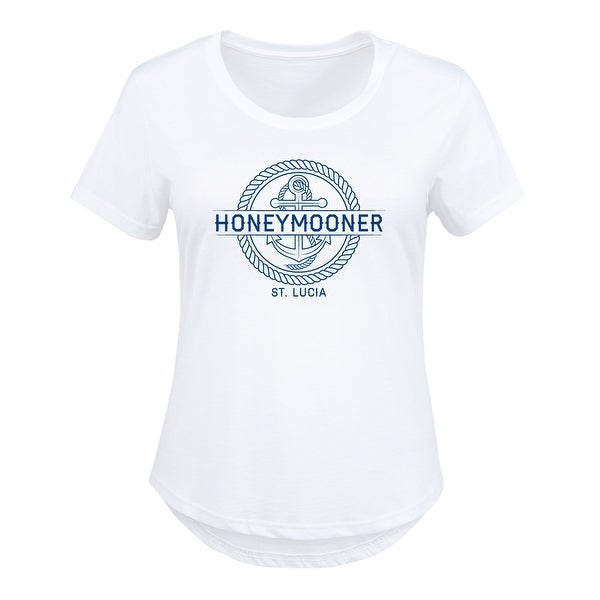 803b4af9b9e Shop Honeymooner Anchor (Personalized) - Ladies Plus Size Scoop Neck Tee -  Free Shipping On Orders Over  45 - Overstock.com - 26034776