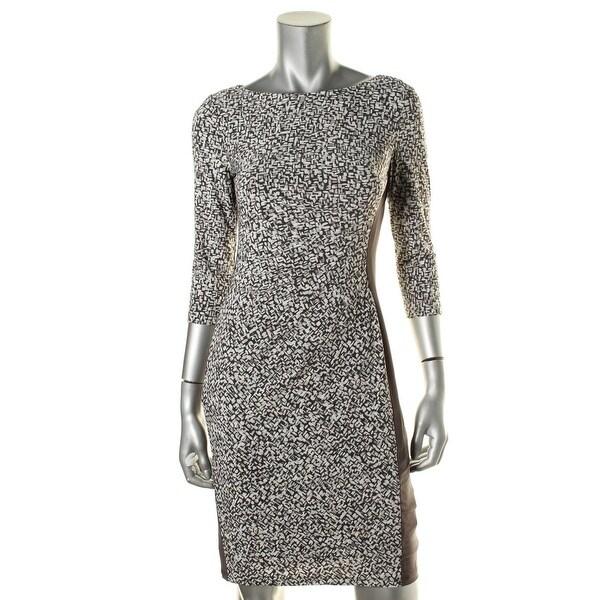 Lauren Ralph Lauren Womens Wear to Work Dress Printed 3/4 Sleeves