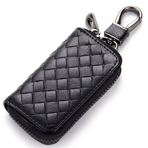 Key Holder Wallet Genuine Leather Unisex Key Wallet 4 Colors Key Organizer Key Bag Holder Car Housekeeper Wallet
