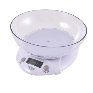 Unique Bargains Kitchen 3kg 3000g/1g Mini Digital Electronic Weight Scale w Bowl White