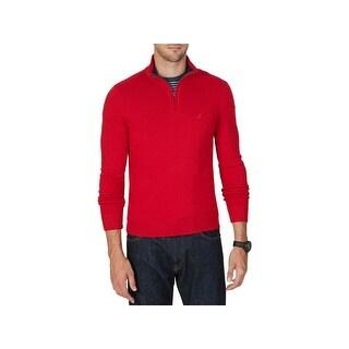 Nautica Mens Big & Tall Mock Sweater 1/4 Zip Knit - 1xlt
