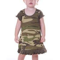 Kavio! Infants Girls Camouflage A-Line Short Sleeve Dress Camo