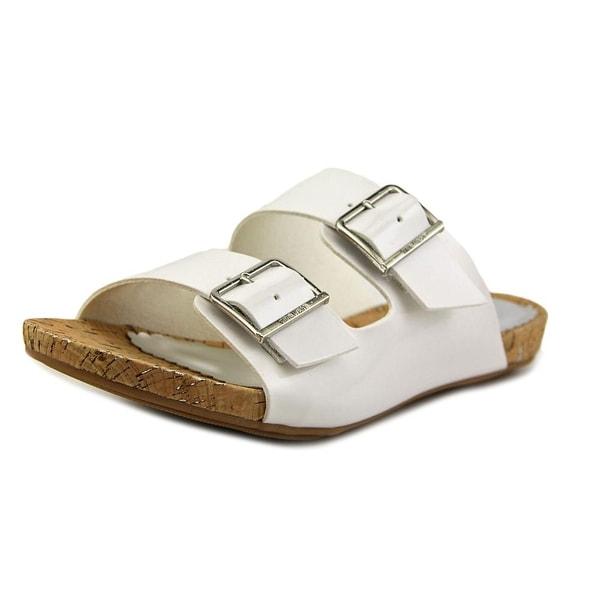 Nine West Tara Youth Open Toe Synthetic White Slides Sandal