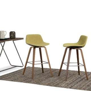 Link to WYNDENHALL Cacey Mid Century Modern Bentwood Counter Height Stool (Set of 2) - 20.7'' x 21.1'' x 36.6 - 20.7'' x 21.1'' x 36.6 Similar Items in Dining Room & Bar Furniture
