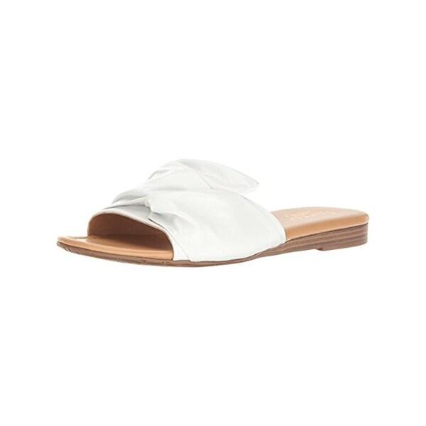 Franco Sarto Womens Gracelyn Slide Sandals Leather Open Toe