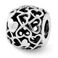 Sterling Silver Reflections Hearts Bali Bead (4mm Diameter Hole) - Thumbnail 0