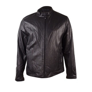 Calvin Klein Men's Faux-Leather Moto Jacket