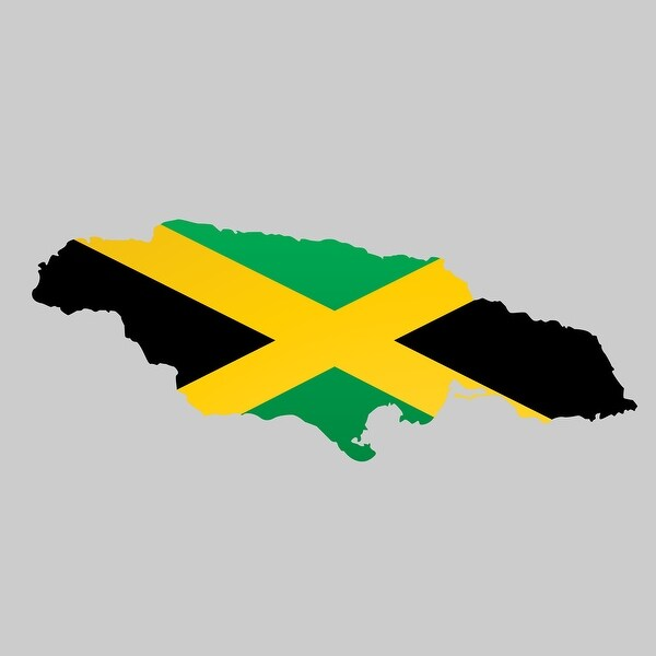 Jamaica - Country Flag Decal 2 - 24x24 Peel'N'Stick Wall Art