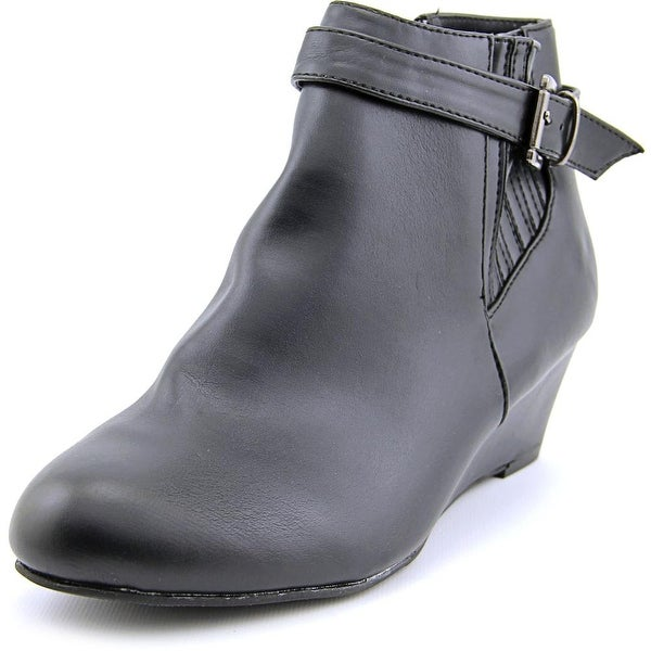 Karen Scott Weslyy Women Round Toe Synthetic Black Ankle Boot