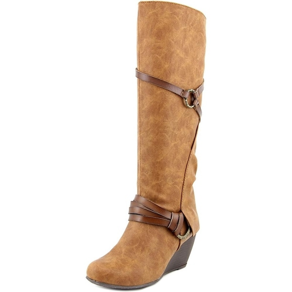 Blowfish Board Women Round Toe Synthetic Brown Knee High Boot