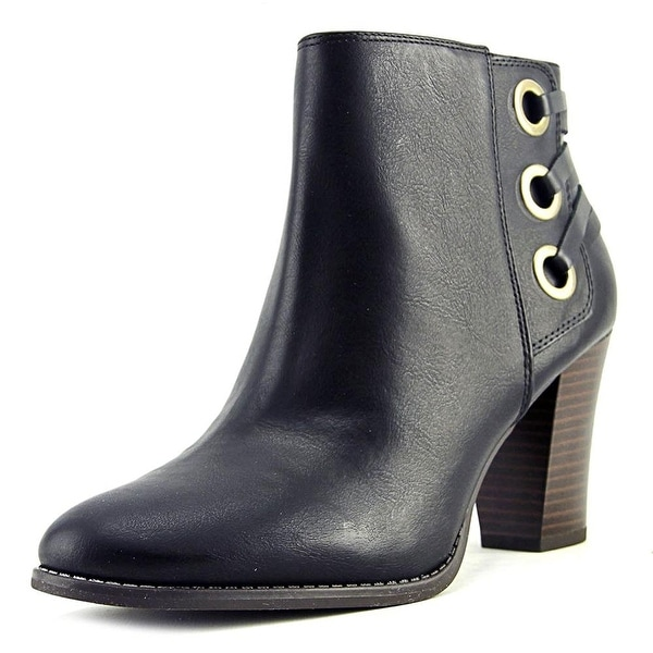 INC International Concepts Jesaa Women Round Toe Synthetic Black Ankle Boot - 9