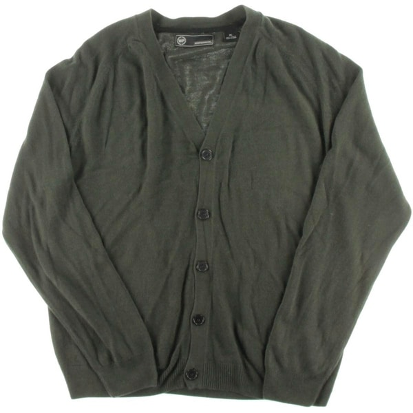Weatherproof Mens Cardigan Sweater Button-Down Soft Touch