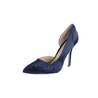 Blue by Betsey Johnson Womens Band Pointed Toe Slip On D'Orsay Heels - 9.5 medium (b,m)