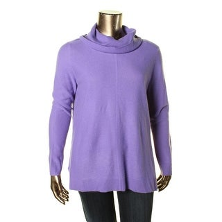 Lauren Ralph Lauren Womens Cashmere Ribbed Trim Pullover Sweater