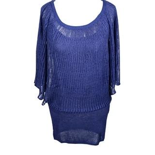 CDD ED 114/12 KIMONO AZZ Silk Blend Blue Kimono Sweater (44/46)
