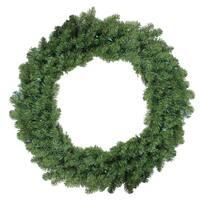 "36"" B/O Pre-Lit LED Canadian Pine Artificial Christmas Wreath - Multi Lights - green"