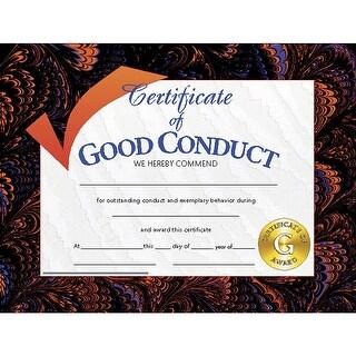(6 Pk) Certificates Good Conduct 8.5X11 30 Per Pk