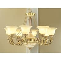 """Classic Lighting 56228 25"""" Alabaster Chandelier from the Monica Collection"""