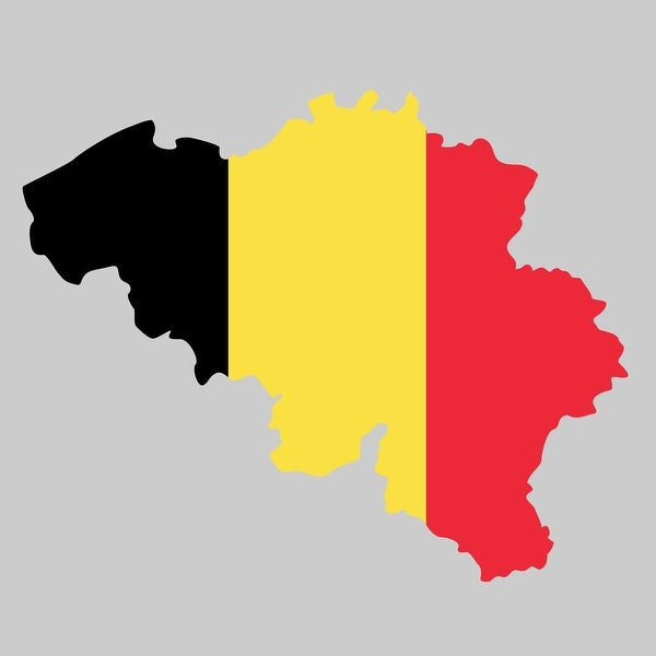 Belgium - Country Flag Decal 1 - 24x24 Peel'N'Stick Wall Art