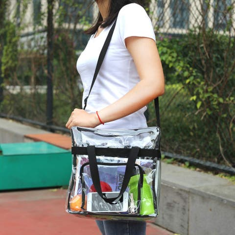 Magicbags Clear Tote Bag Stadium Approved,Adjustable, Black, Size No Size - Black - No Size