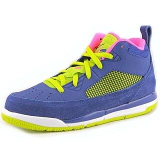 Jordan Flight 9.5 GG Youth Round Toe Leather Blue Basketball Shoe