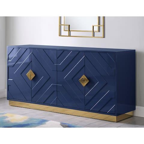 Best Master Furniture 65-inch 4 Door Sideboard