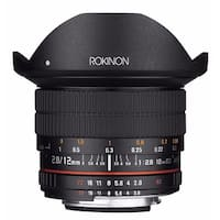 Rokinon 12mm f/2.8 ED AS IF NCS UMC Fisheye Lens for Canon EF Mount - Black