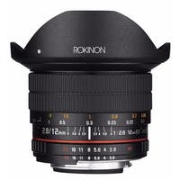 Rokinon 12mm f/2.8 ED AS IF NCS UMC Fisheye Lens for Nikon F Mount with AE Chip - Black