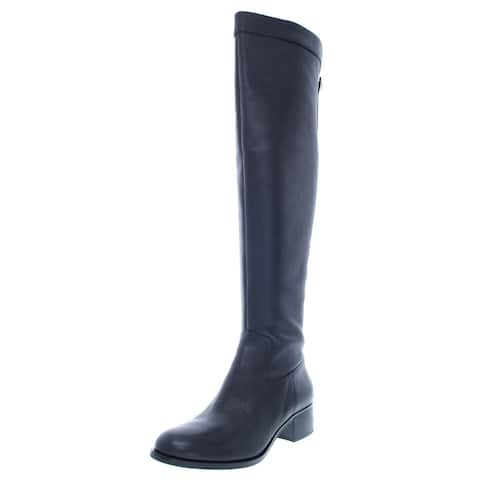 MICHAEL Michael Kors Womens Finn Over-The-Knee Boots Over-The-Knee Leather