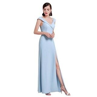 Ever-Pretty Women's Elegant Long V Neck Tulip Sleeves Evening Party Dress 07203