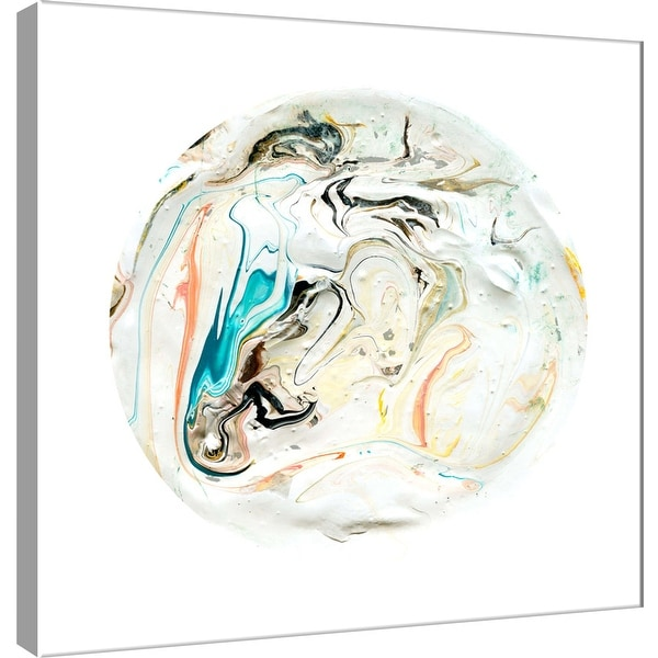 "PTM Images 9-101110 PTM Canvas Collection 12"" x 12"" - ""Painterly Circle on White B"" Giclee Abstract Art Print on Canvas"