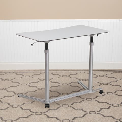 Sit-Down, Stand-Up Ergonomic Computer Desk - Standing Desk